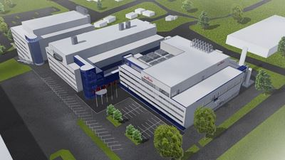 Illustration of the Murata factory expansion in Vantaa.